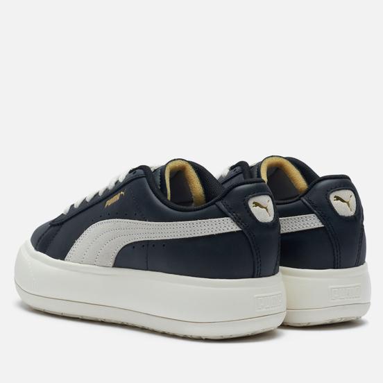 Женские кроссовки Puma Suede Mayu Leather Black/Marshmallow