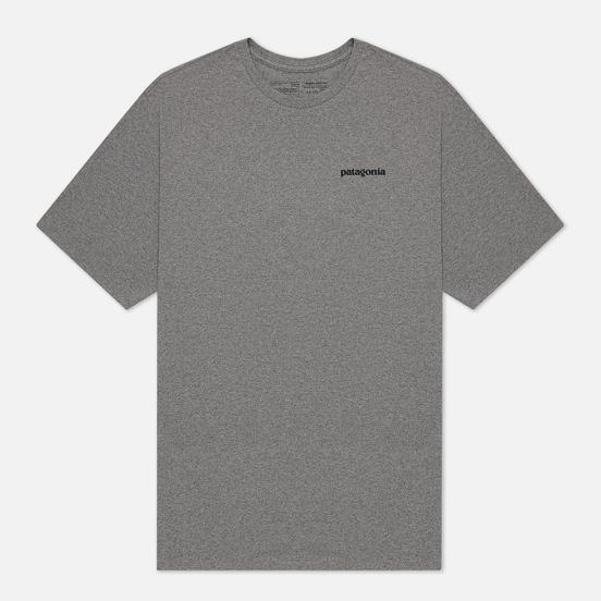 Мужская футболка Patagonia P-6 Logo Responsibili-Tee Gravel Heather