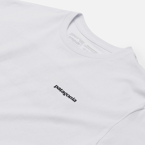Мужская футболка Patagonia P-6 Logo Responsibili-Tee White