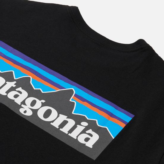 Мужская футболка Patagonia P-6 Logo Pocket Responsibili Black