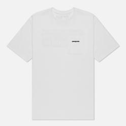 Мужская футболка Patagonia P-6 Logo Pocket Responsibili White