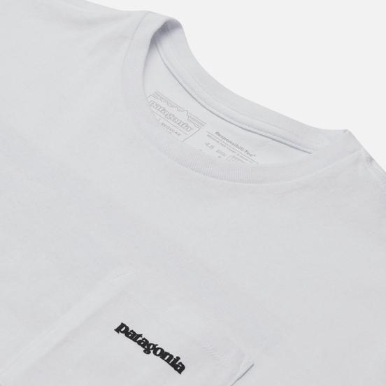 Мужская футболка Patagonia P-6 Logo Pocket Responsibili-Tee White