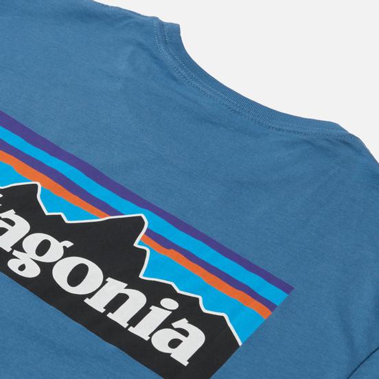 Мужская футболка Patagonia P-6 Logo Organic Pigeon Blue
