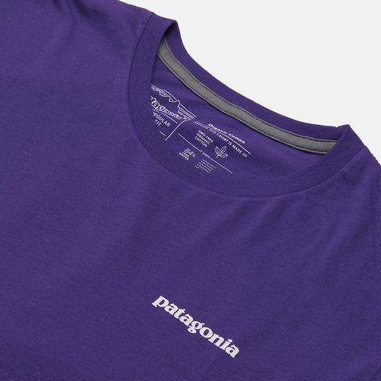 Мужская футболка Patagonia P-6 Logo Organic Purple