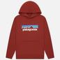 Мужская толстовка Patagonia P-6 Logo Uprisal Hoodie Barn Red фото - 0