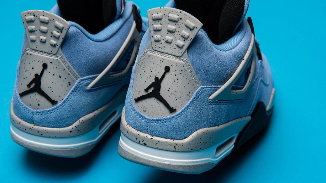 Air Jordan 4 Retro University Blue: нежная цветовая гамма