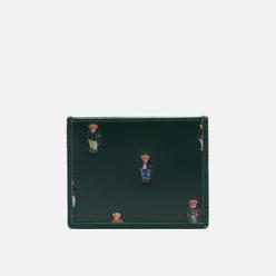 Держатель для карточек Polo Ralph Lauren All Over Bear Smooth Leather Forest Green