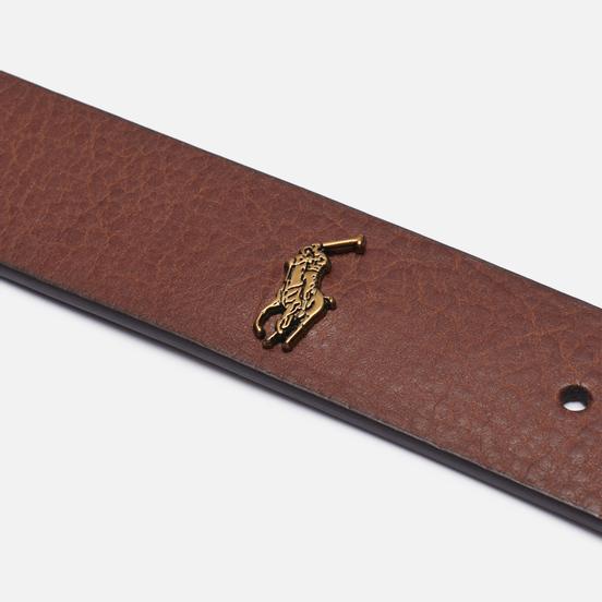 Ремень Polo Ralph Lauren Vegetable Tanned Leather Brown
