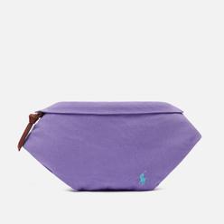 Сумка на пояс Polo Ralph Lauren Canvas Medium Embroidered Logo Hampton Purple/Light Turquoise PP