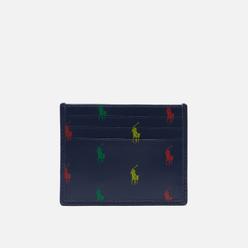 Держатель для карточек Polo Ralph Lauren All Over Pony Leather Navy/Multi