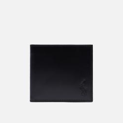 Кошелек Polo Ralph Lauren Signature Pony Leather Billfold Coin Black/White