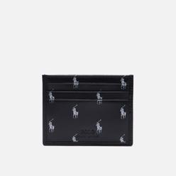 Держатель для карточек Polo Ralph Lauren Signature Pony Leather Black/White