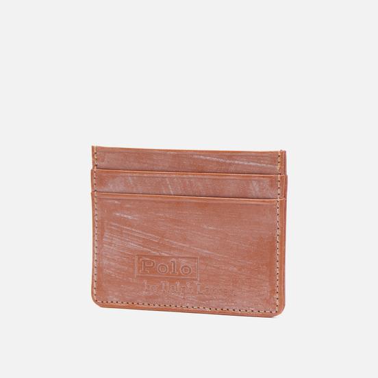 Держатель для карточек Polo Ralph Lauren Bridle Leather Small Saddle