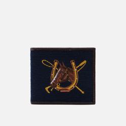 Кошелек Polo Ralph Lauren Equestrian Needlepoint Billfold Navy/Yellow