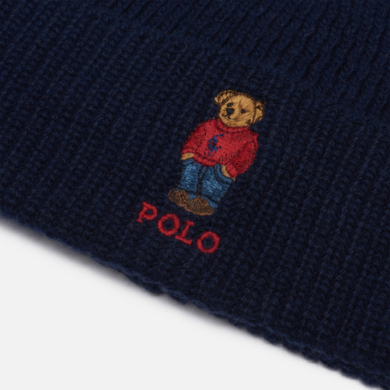 Шапка Polo Ralph Lauren Polo Bear Acrylic/Nylon/Wool Hunter Navy