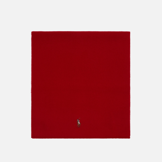Шарф Polo Ralph Lauren Fringed Virgin Wool Red
