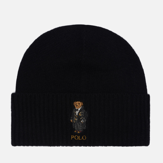 Шапка Polo Ralph Lauren Holiday Bear Wool/Cashmere Black
