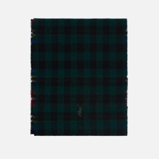 Шарф Polo Ralph Lauren Reversible Tartan Black Stewart