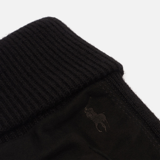 Перчатки Polo Ralph Lauren Suede/Merino Sandwich Black