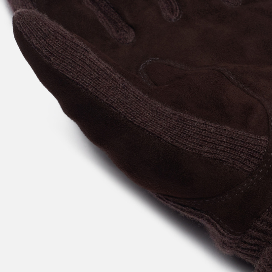 Перчатки Polo Ralph Lauren Suede/Merino Sandwich Dark Brown