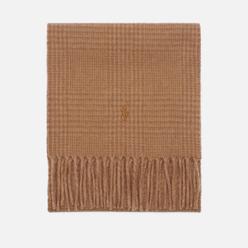 Шарф Polo Ralph Lauren Reversible Wool/Nylon Oblong Brown Plaid