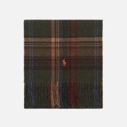 Шарф Polo Ralph Lauren Greenwich Plaid Recycled Wool Infinity Olive/Multi