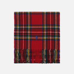 Шарф Polo Ralph Lauren Recycled Wool Tartan Oblong Red Steward