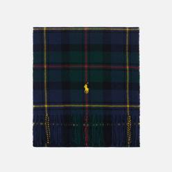 Шарф Polo Ralph Lauren Recycled Wool Tartan Oblong Blue Green Plaid
