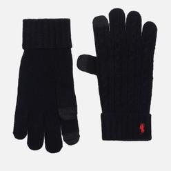 Перчатки Polo Ralph Lauren Classic Cable Wool/Nylon Black