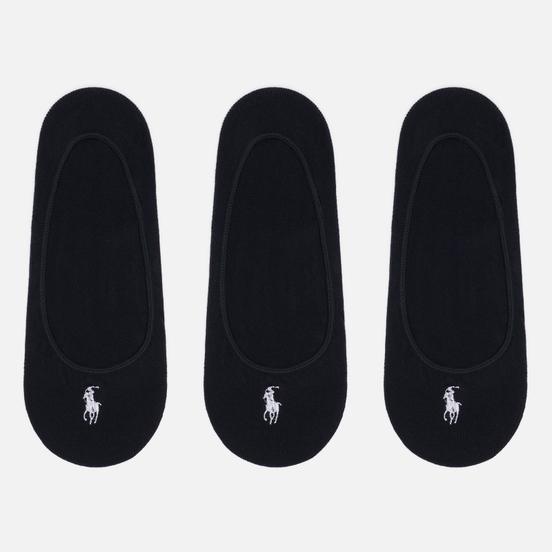 Комплект носков Polo Ralph Lauren Ultralow Liner 3-Pack Black