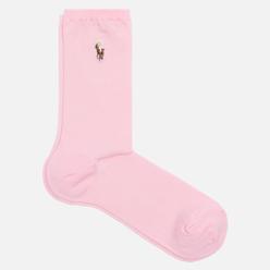 Носки Polo Ralph Lauren Flat Knit Polo Pony Crew Single Pink