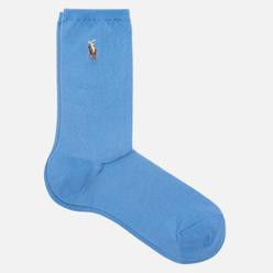 Носки Polo Ralph Lauren Flat Knit Polo Pony Crew Single Light Blue