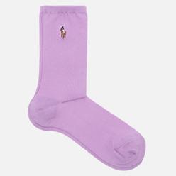 Носки Polo Ralph Lauren Flat Knit Polo Pony Crew Single Lilac