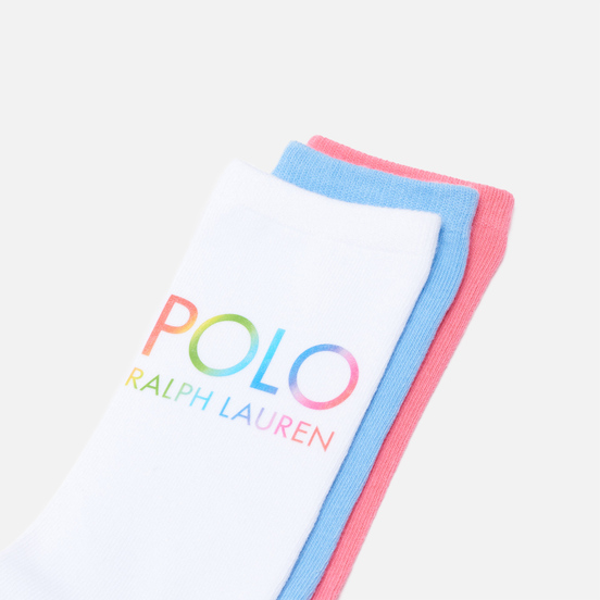 Комплект носков Polo Ralph Lauren Ombre Polo Crew 3-Pack Multicolor