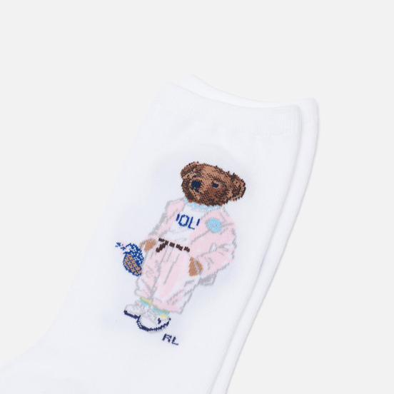 Носки Polo Ralph Lauren Gatsby Bear Crew Single White