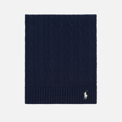 Шарф Polo Ralph Lauren Cable-Knit Cotton Hunter Navy