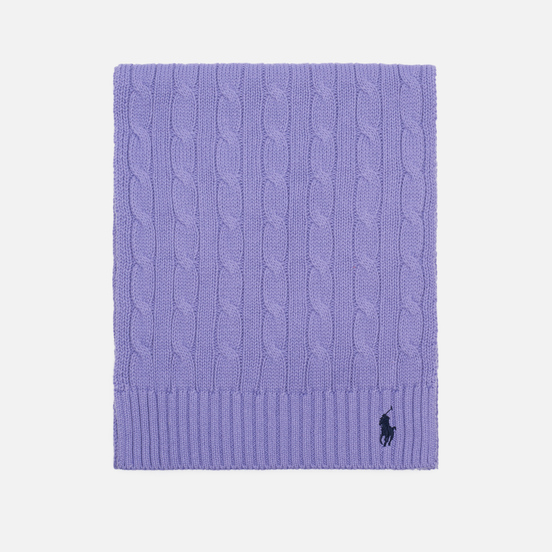 Шарф Polo Ralph Lauren Cable-Knit Cotton Cruise Lavendar