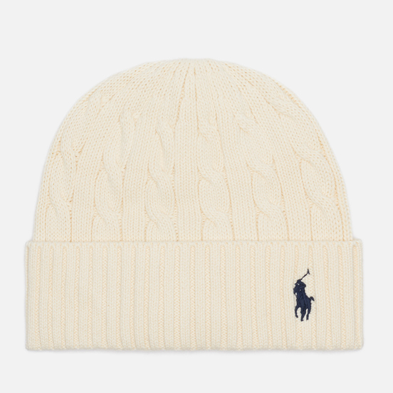 Шапка Polo Ralph Lauren Cable Cotton Cold Weather Clubhouse Cream