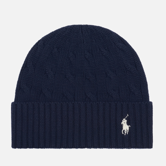 Шапка Polo Ralph Lauren Cable Cotton Cold Weather Hunter Navy