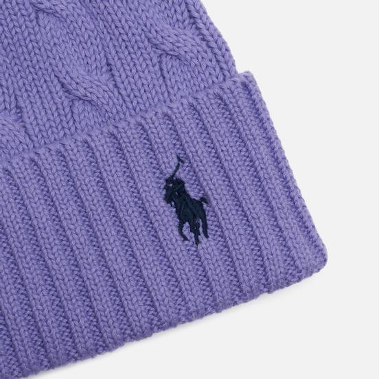 Шапка Polo Ralph Lauren Cable Cotton Cold Weather Cruise Lavendar