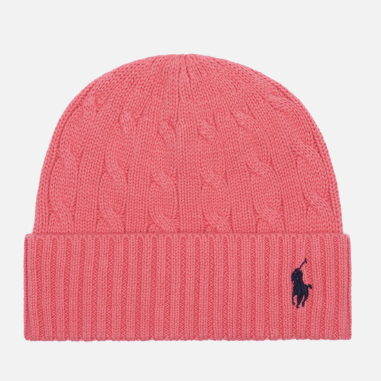 Шапка Polo Ralph Lauren Cable Cotton Cold Weather Horizon Pink