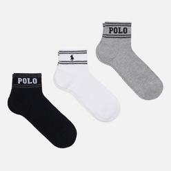 Комплект носков Polo Ralph Lauren Double Stripe Ankle 3-Pack Multicolor