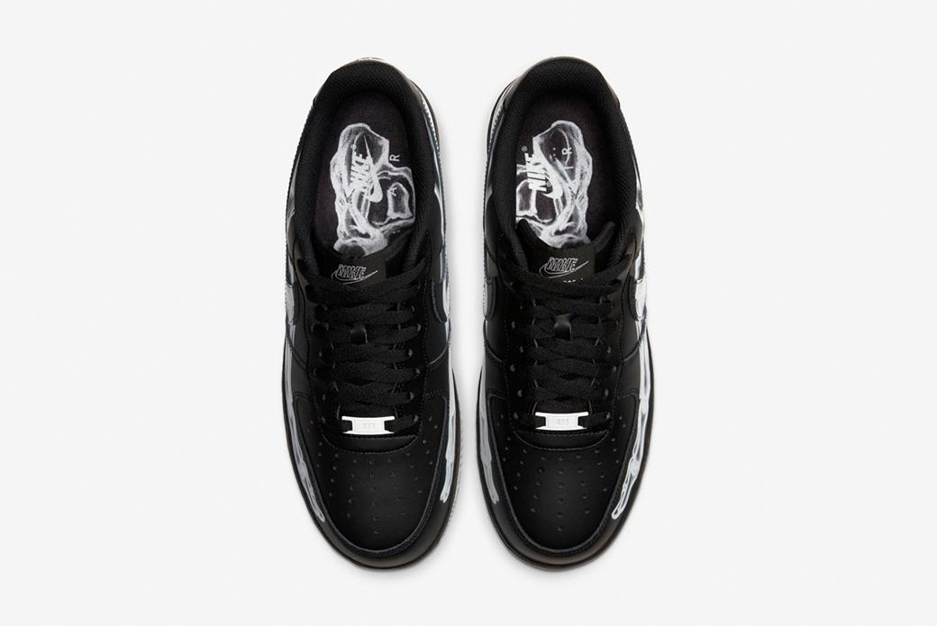"Nike Air Force 1 '07 Skeleton QS ""Black"": анатомия Хэллоуина"