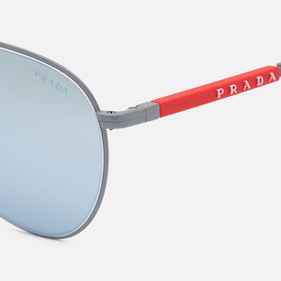 Солнцезащитные очки Prada Linea Rossa 51XS-07S08L-3N Matte Alluminium/Green Mirror Silver