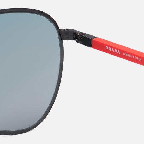 Солнцезащитные очки Prada Linea Rossa 51XS-1BO01M-2N Matte Black/Dark Grey Mirror Blue/Red