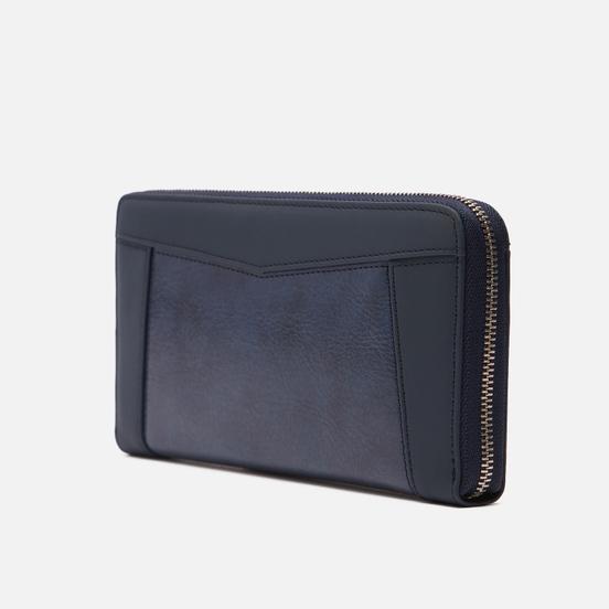 Кошелек Master-piece Essential Leather Round Zipper Navy