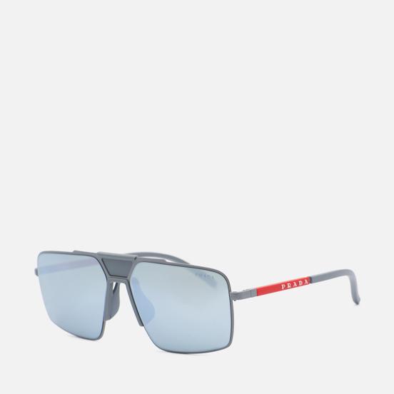 Солнцезащитные очки Prada Linea Rossa 52XS-07S08L-3N Matte Alluminium/Green Mirror Silver