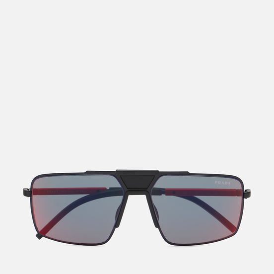 Солнцезащитные очки Prada Linea Rossa 52XS-1BO01M-2N Matte Black/Dark Grey Mirror Blue/Red