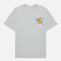 Мужская футболка Puma x Aka Boku Print Light Gray Heather