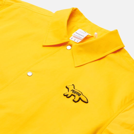 Мужская куртка ветровка Puma x Maison Kitsune Logo Lemon